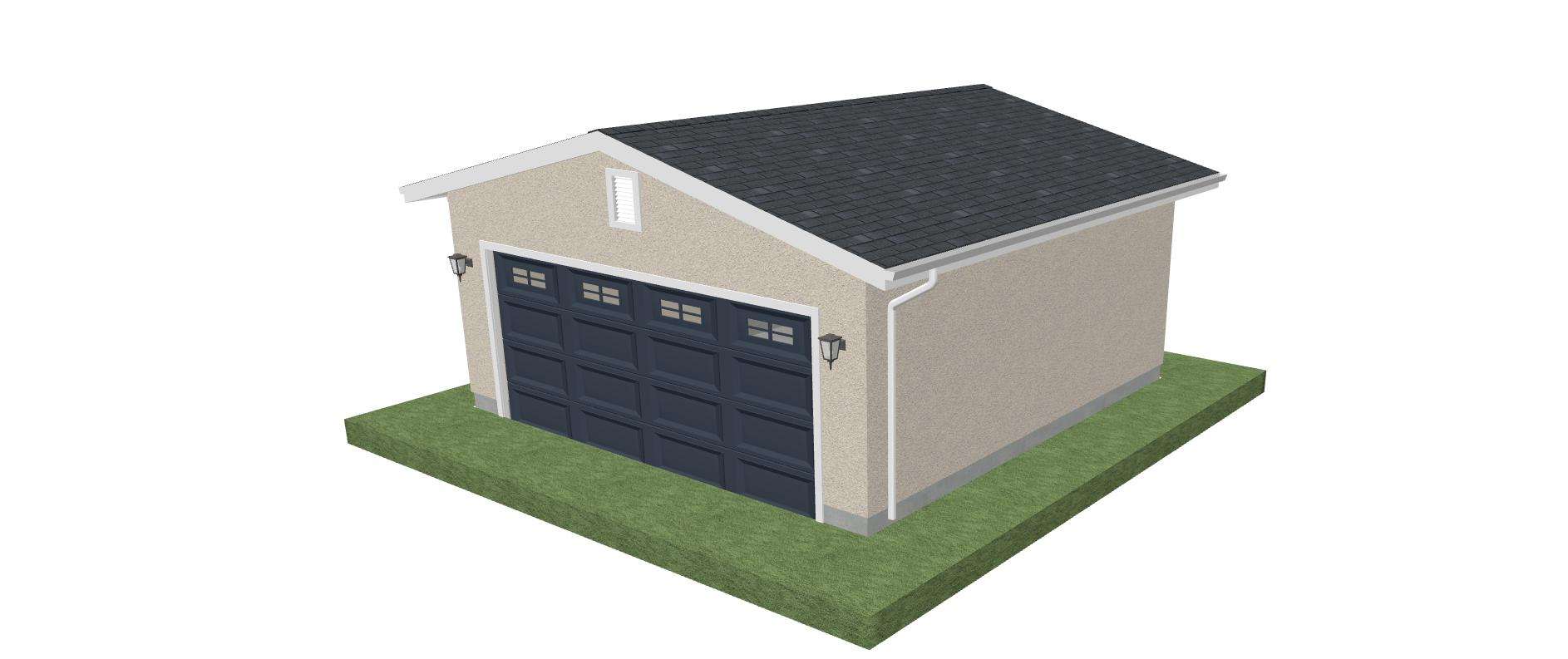 Predesigned projects diy architectural for Sq ft of 2 car garage