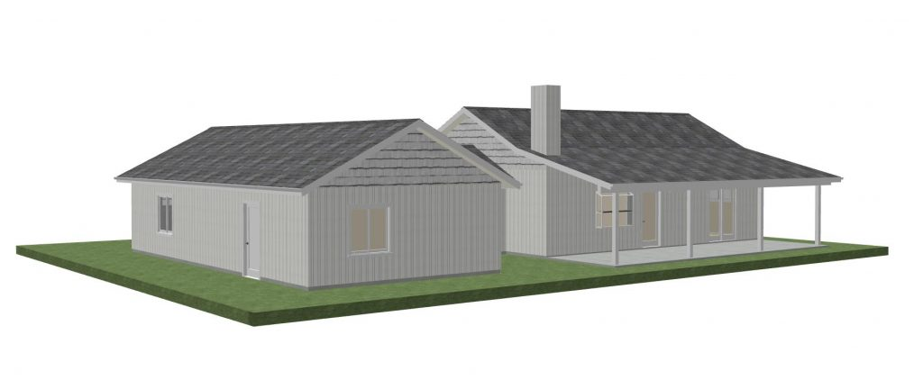 1200 (or 900) SQ. FT. ADU with Garage & Workshop
