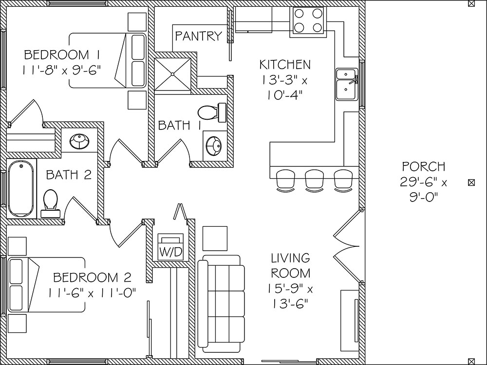 Accessory Dwelling Unit Floor Plans Floors Doors